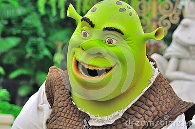 Shrek cartoon character Editorial Image
