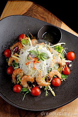 Free Shrimp And Glass Noodle Salad Royalty Free Stock Photo - 45096355