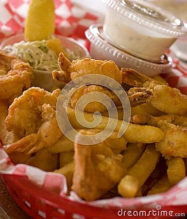 Free Shrimp Basket Royalty Free Stock Photos - 3440468
