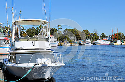 Shrimp Boats and Fishing Boats Editorial Stock Image