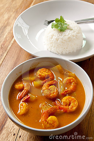 Free Shrimp Curry With Rice. Stock Image - 16902261