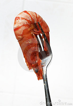 Shrimp on the fork