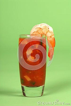 Shrimp on a glass