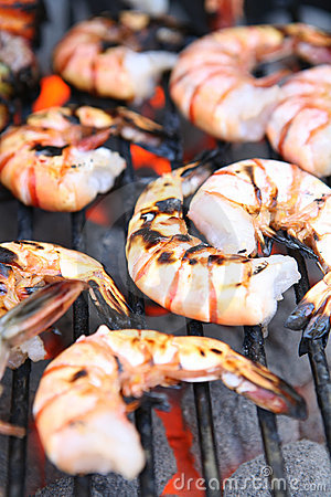 Free Shrimp On Grill Royalty Free Stock Photography - 2752007