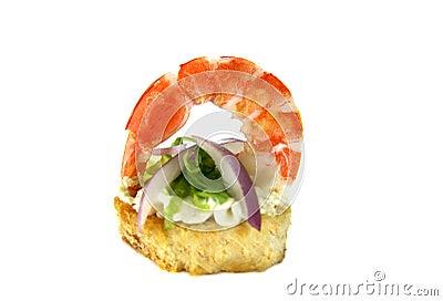 Shrimp And Onion Tidbit