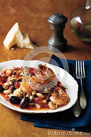 Shrimp parmigiano