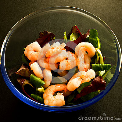 Shrimp or Prawns in Lettuce