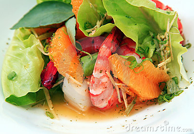 Shrimp salad food