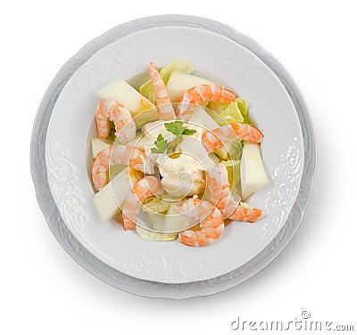 Shrimp Salad. White