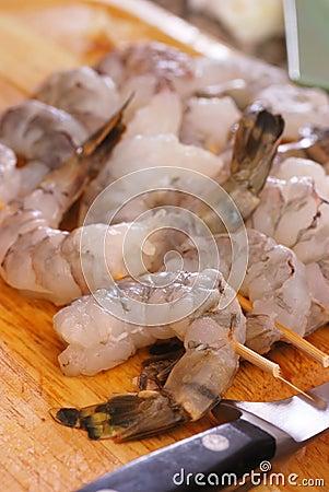 Free Shrimp Skewers Stock Image - 6292261