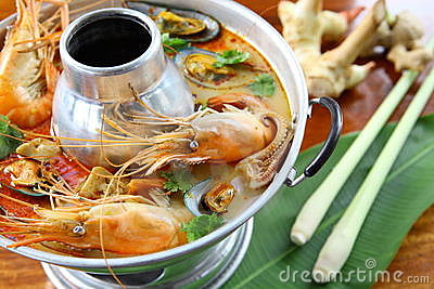 Shrimp spicy Soup