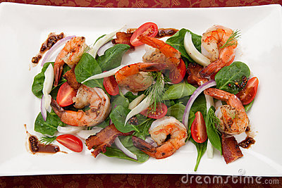 Shrimp and Spinach Salad