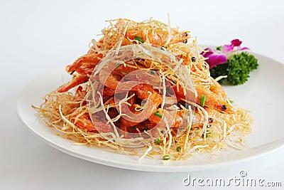 Shrimp and taro