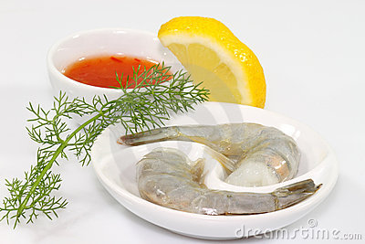 Shrimps with dip