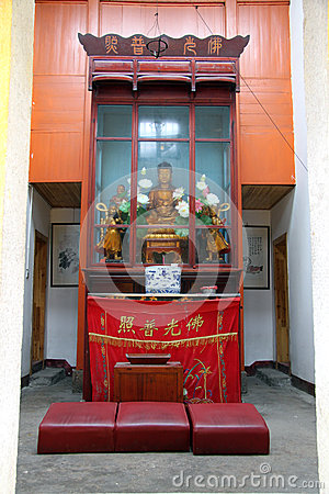 Shrine in buddhist temple
