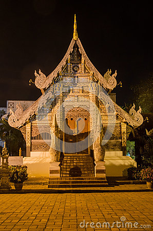 Shrine, Chiang Mai at Night