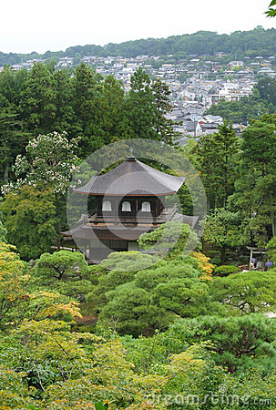 Shrine at Ginkakuji temple