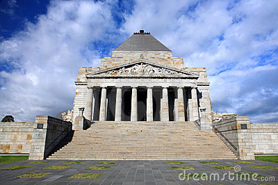 Shrine of Remembrance.Melbourne Editorial Photo