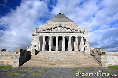 Shrine of Remembrance.Melbourne Editorial Photo