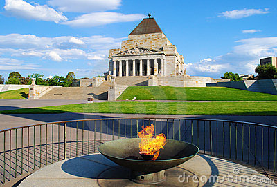 Shrine of Remembrance Melbourne Editorial Photo