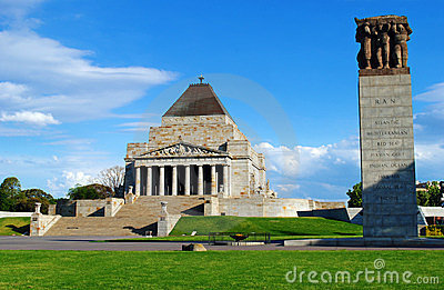 Shrine of Remembrance Melbourne Editorial Image