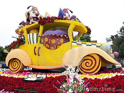 Shriners Hospitals 2011 Rose Bowl Parade Float Editorial Photo