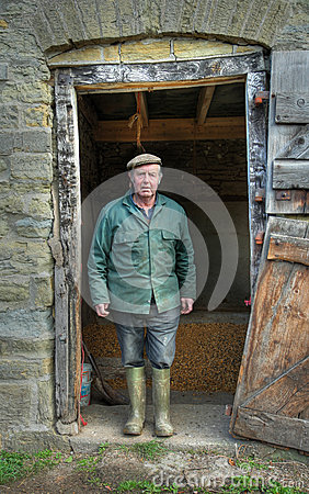 Shropshire Farmer Editorial Stock Photo