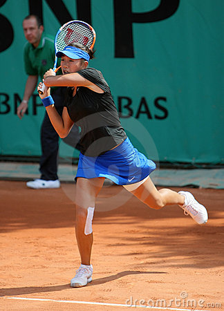Shuai ZHANG (CHN) at Roland Garros 2010 Editorial Photo