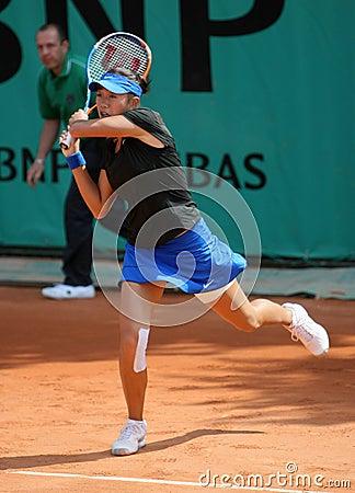 Shuai ZHANG (CHN) at Roland Garros 2010 Editorial Photo