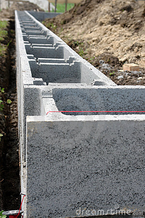 Shuttering block foundation
