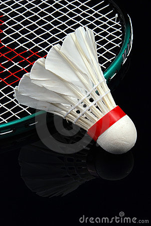Free Shuttlecock And Racket Stock Photography - 3395892