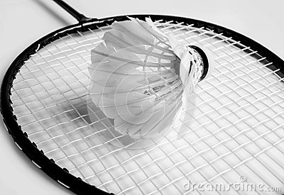 Shuttlecock a racket of badminton