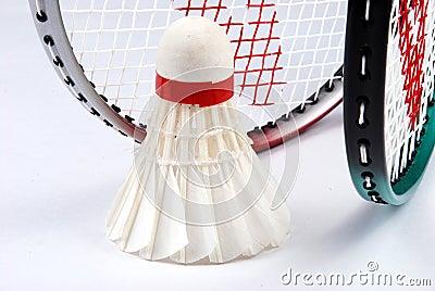 Shuttlecock and rackets