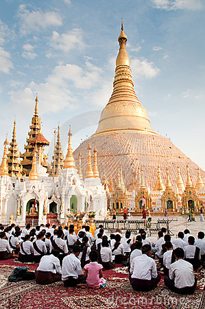 Shwedagon Pagoda Editorial Photography