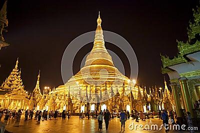 Shwedagon Pagoda Myanmar Burma Editorial Stock Image