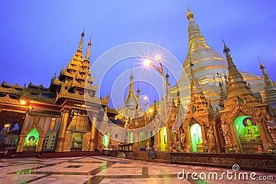 Shwedagon pagoda at sunrise,Bagan, Myanmar
