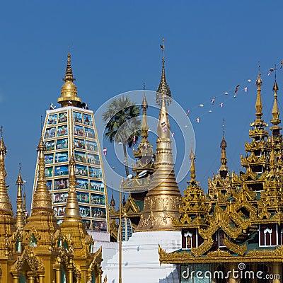 Shwedagon Pagoda Temples - Yangon - Myanmar (Burma)