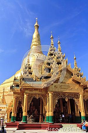 Shwedagon Pagoda-Myanmar Editorial Image