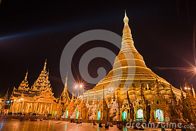 Shwedagon Pagoda, Yangon, Myanmar Editorial Photo