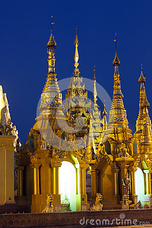 Shwedagon Paya Grounds by Night