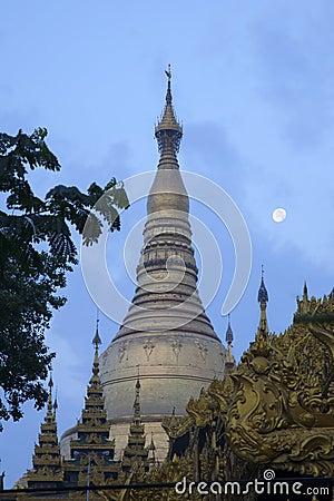 Shwedagon Paya and the Moon