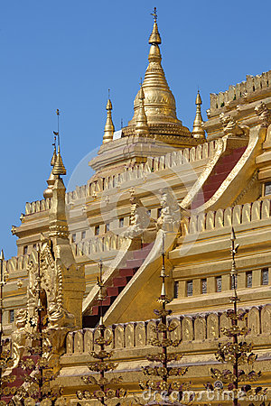Shwezigon Pagoda - Bagan - Myanmar (Burma).