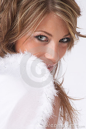 Shy christmas angel