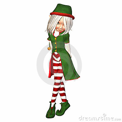 Shy Christmas Elf