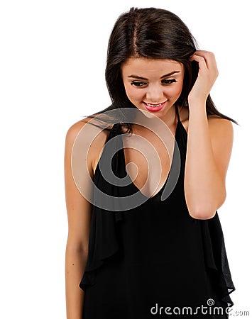 Shy teen girl