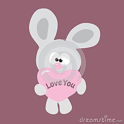 Shy Valentine Bunny