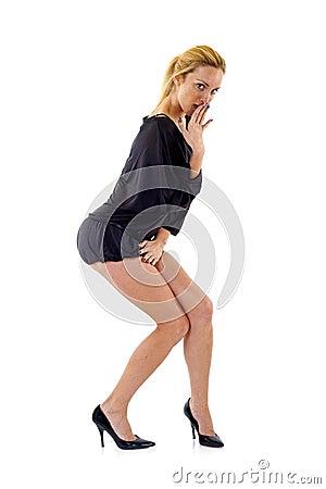 Free Shy Woman Stock Photo - 13372510