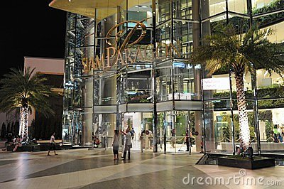 Siam Paragon Shopping Mall in Bangkok Editorial Stock Photo
