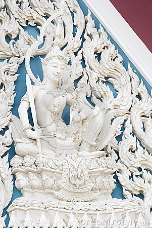 Siam style white angel in temple