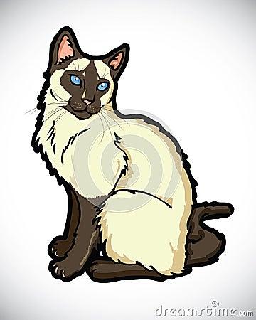 Siamese cartoon cat
